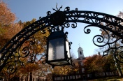 Old Queens gate lantern in the fall