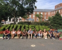 My orientation group on our tour of college avenue!